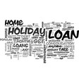 what can i get a loan for text word cloud concept vector image vector image