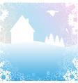 winter morning vector image