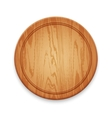 Wooden Round Cutting Board on White Background vector image vector image