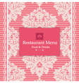 Pink Menu Design vector image