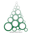 Abstract Christmas made of circles vector image vector image