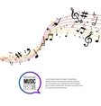 abstract colorful Music notes and lines On vector image vector image