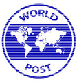 abstract world post rubber stamp vector image vector image