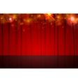 background with red curtain and shiny vector image