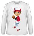 Baseball shirt vector image