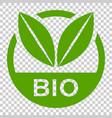 bio label badge icon in flat style eco organic vector image vector image