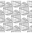 black white seamless pattern of decorative eggs vector image vector image