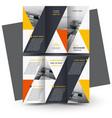 brochure design template triangles yellow vector image