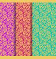 buddhism paisley seamless pattern set vector image vector image