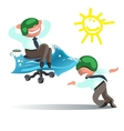 Businessman Run to Goal Time and Way Success vector image
