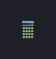 Calculator computer symbol vector image vector image