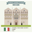 Cathedral Ferrara vector image vector image