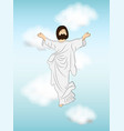 christian festival ascension day vector image vector image