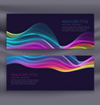 colorful set of two banners with wavy effect vector image vector image