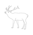 coloring book page deer with antler vector image vector image