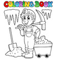 coloring book with miner vector image
