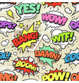 comic pop art seamless pattern vector image vector image