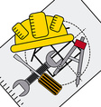 construction concept vector image vector image