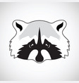 cute raccoon face vector image