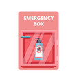 emergency box with sanitized gel in red case of vector image