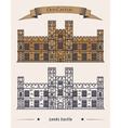 English Leeds castle palace facade exterior view vector image vector image