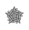 five pointed star zentangle isolated design vector image vector image