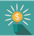flat potted money dollar flower monetary success vector image