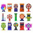 gambling slot machines arcade video games casino vector image vector image