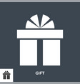 gift box glyph icon vector image