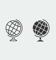 globe icon for graphic and web design vector image vector image