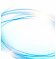 glowing dynamic wave on an blue background vector image