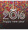 Happy New Year 2016 Creative Colorful Glitter vector image vector image