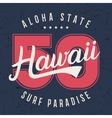 Hawaii lettering typography t-shirt graphics vector image vector image