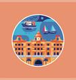 haydarpasa station istanbul landmark icon in flat vector image