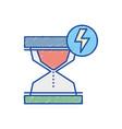 hourglass with energy hazard symbol vector image vector image