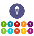 ice cream set icons vector image vector image