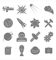 Icons space in flat style gray on white vector image vector image