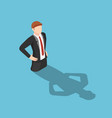 isometric businessman drowning in his shadow vector image vector image