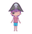 little pirate fairytale character vector image vector image
