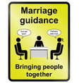 marriage guidance information sign vector image vector image