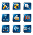 network button set vector image vector image