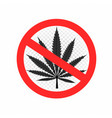 no drugs sign symbol icon vector image