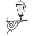 old streetlamp vector image vector image