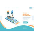 online store landing page shopping smartphone vector image