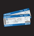 pattern boarding pass vector image vector image