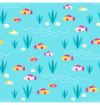 Pattern fishes sand vector image vector image