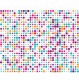 random colorful dots vector image vector image