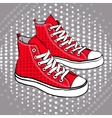 red sports shoes decorated with stars vector image vector image
