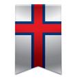 Ribbon banner - faroese flag vector image vector image