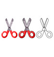 scissors craft tool shears cut cloth paper vector image vector image